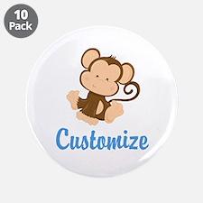 "Custom Monkey 3.5"" Button (10 pack)"