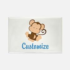 Custom Monkey Rectangle Magnet