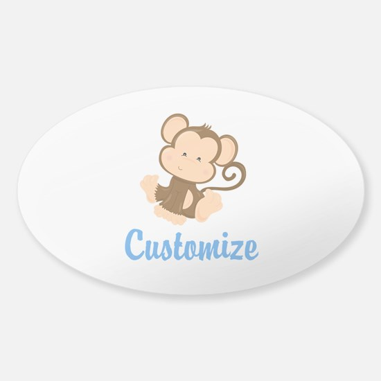Custom Monkey Sticker (Oval)