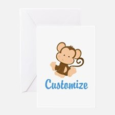 Custom Monkey Greeting Card