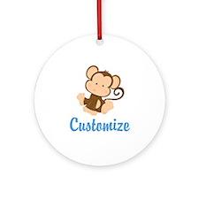 Custom Monkey Round Ornament