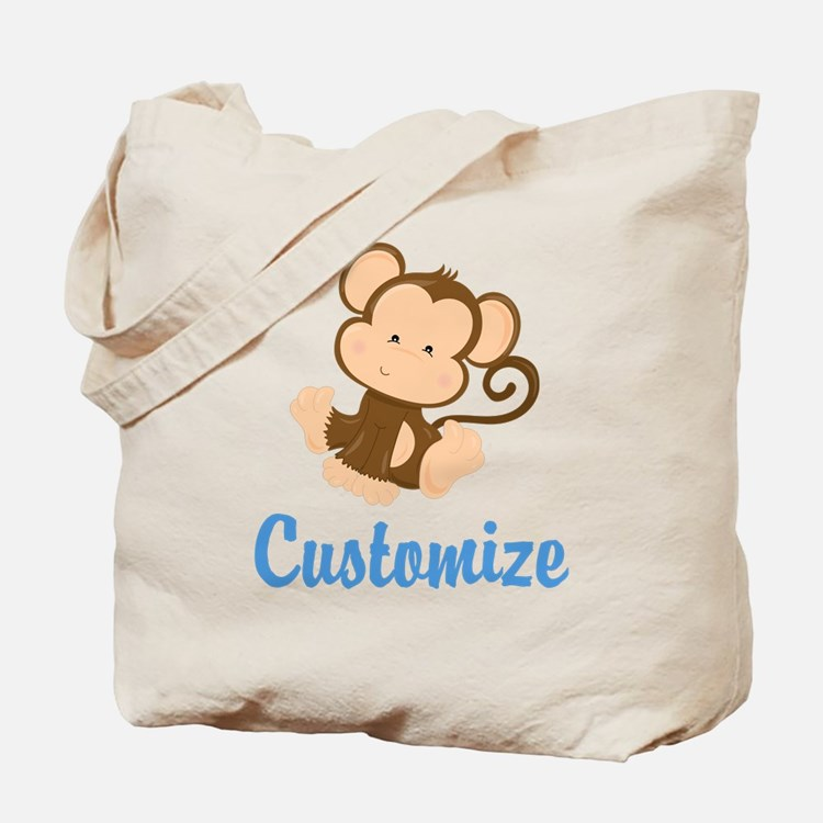 Custom Monkey Tote Bag