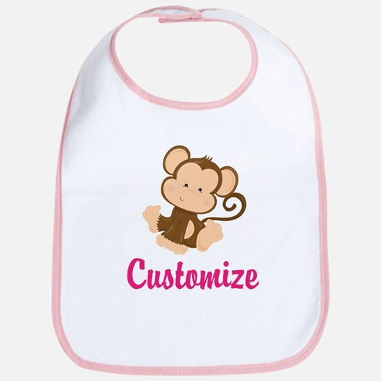 Personalize this adorable baby monkey w/your n Bib