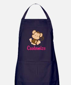 Personalize this adorable baby monkey Apron (dark)