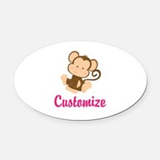 Personalize this adorable baby mon Oval Car Magnet