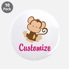 """Personalize this adorable ba 3.5"""" Button (10 pack)"""