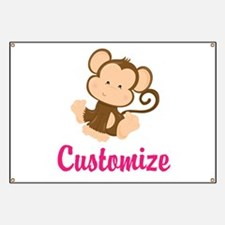 Personalize this adorable baby monkey w/you Banner