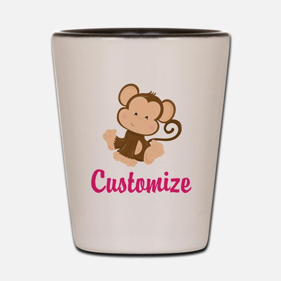 Personalize this adorable baby monkey w Shot Glass