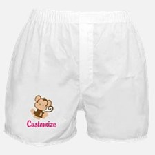 Personalize this adorable baby monkey Boxer Shorts
