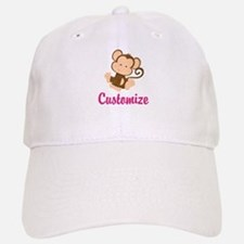 Personalize this adorable baby monkey w/your n Baseball Baseball Cap