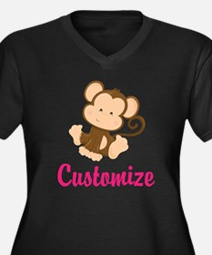 Personalize Women's Plus Size V-Neck Dark T-Shirt