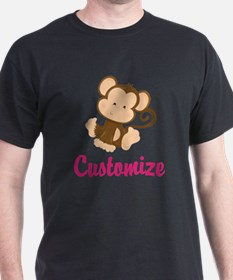 Personalize this adorable baby monkey T-Shirt