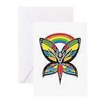 Rainbow Girls Greeting Cards (Pk of 10)