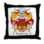 Sepulveda Family Crest  Throw Pillow