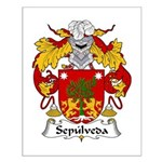 Sepulveda Family Crest  Small Poster
