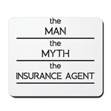Insurance agent Mouse Pads