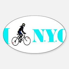 I Bike NYC transp Black Decal