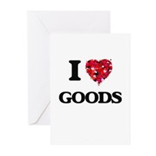 I love Goods Greeting Cards