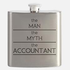 The Man The Myth The Accountant Flask