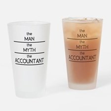 The Man The Myth The Accountant Drinking Glass