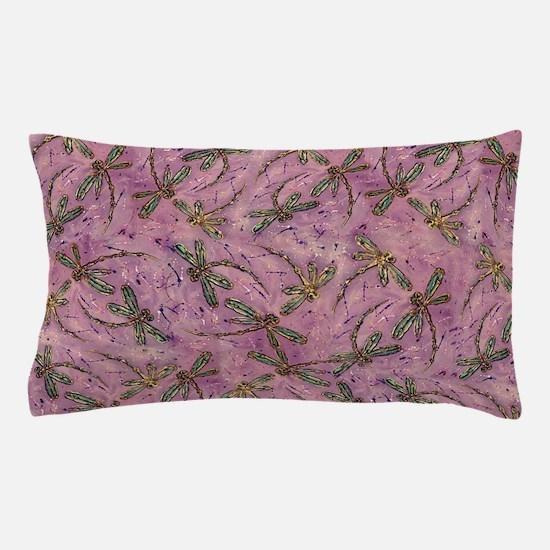 Dragonflies Pink Fizz Pillow Case