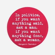 Ask A Woman Button