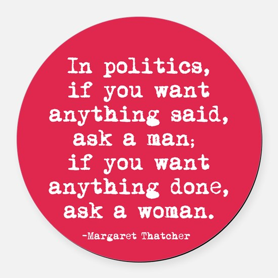Ask a woman Round Car Magnet