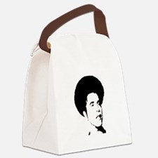Obama with Afro Canvas Lunch Bag