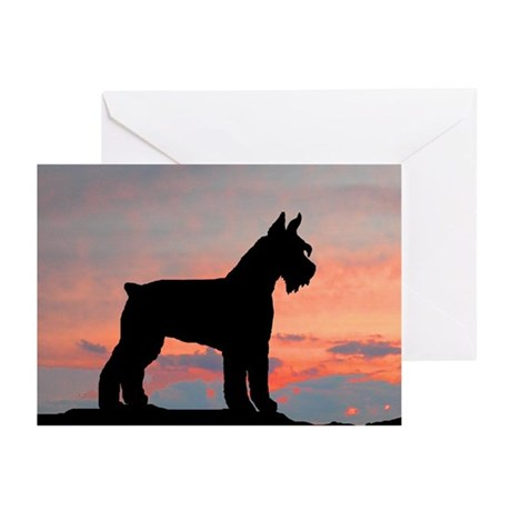 Schnauzer Sunset Greeting Cards (Pk of 10)