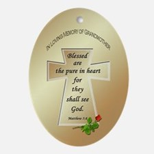 In Loving Memory of Grandmother Oval Ornament