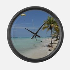 Negril Beach Jamaica Large Wall Clock