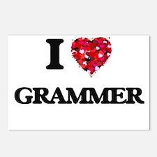 I love Grammer Postcards (Package of 8)