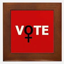 Women Vote Framed Tile
