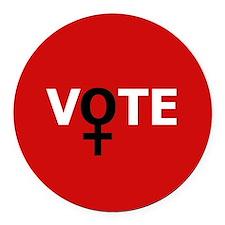 Women Vote Round Car Magnet