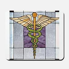 Caduceus of Hermes Doctor Symbol Mousepad