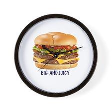 BIG AND JUICY BURGER 10BY10.PNG Wall Clock