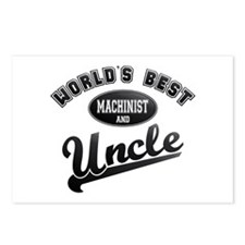 Best Machinist Uncle Postcards (Package of 8)