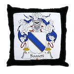 Sasseti Family Crest Throw Pillow
