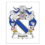 Sasseti Family Crest Small Poster