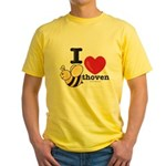 I Love Beethoven Yellow T-Shirt