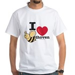 I Love Beethoven White T-Shirt