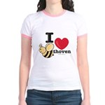 I Love Beethoven Yellow Jr. Ringer T-Shirt