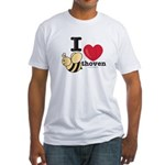 I Love Beethoven Fitted T-Shirt