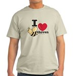 I Love Beethoven Grey T-Shirt