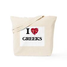 I love Greeks Tote Bag