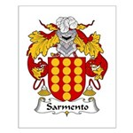 Sarmento Family Crest  Small Poster