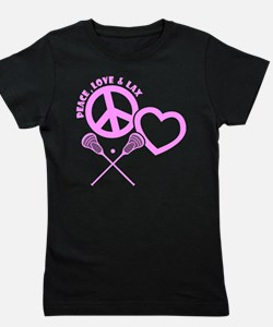 PEACE-LOVE-LAX Girl's Tee