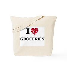 I love Groceries Tote Bag