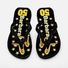50th Gold Glam Flip Flops