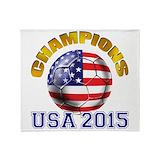 Usa soccer Blankets